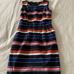 (NEVER WORN) MULTI-COLOR STRIPED DRESS